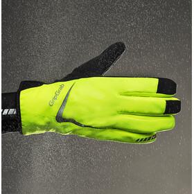 GripGrab Cloudburst Waterproof Hi-Vis Hi-Vis Vedenpitävät Keskikauden hanskat, fluo yellow
